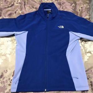 The North Face women's royal blue fleece jacket